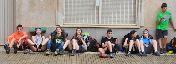 Membres de l'Esplai Gatzara recuperant-se